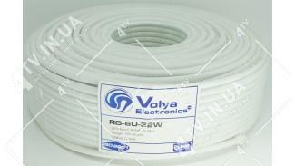 Коаксиальный кабель Volya Electronics RG-6U-32W (100 м.) 75 Ом белый