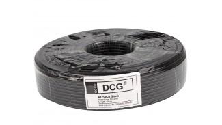 Кабель коаксиальный DCG RG-58 Cu 100 метров 50 Ом черный