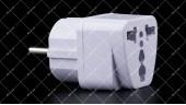 Переходник сетевой AU/US/UK на EU travel adaptor