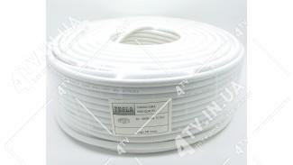 Коаксиальный кабель TESLA 660 CU (100 м.) 75 Ом белый МЕДЬ