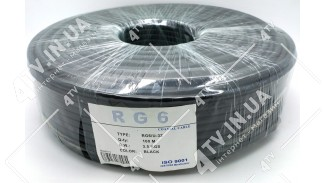 Коаксиальный кабель  GKS RG-6 (100 м.) 75 Ом черный