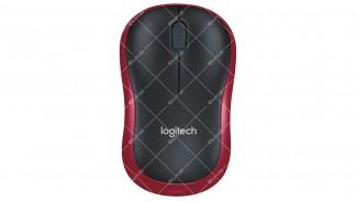 Мышь компьютерная беспроводная Logitech M185 RED 2.4Ghz, USB