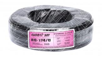 Кабель коаксиальный EUROSAT RG-174/U Cu 100 метров 50 Ом