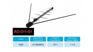 Т2 антенна Alphabox AO-311-01 МВ/ДМВ наружная