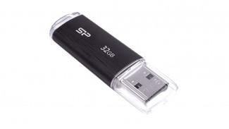 Накопитель SiliconPower 32GB Ultima U02 Black USB 2.0 (SP032GBUF2U02V1)