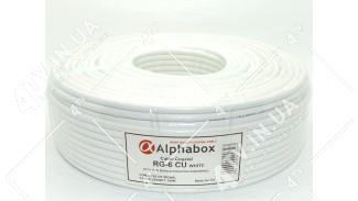 Коаксиальный кабель Alphabox RG-6 CU (100 м.) 75 Ом белый