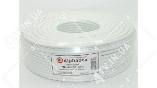 Коаксиальный кабель Alphabox RG-6 Lite (100 м.) 75 Ом белый
