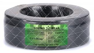Кабель сигнальный Sound Star 2x0.35 CCA 100 метров черный