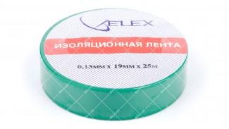 Лента изоляционная ELEX 25 метров зеленая