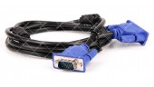 Шнур VGA-VGA (DE-15HD) 2 ферита, 1.5 метра